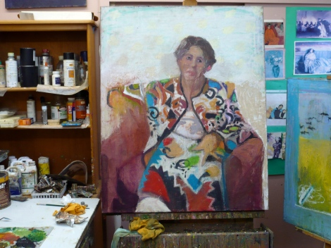 Portrait of Ayalah, work in progress, Galya Tarmu