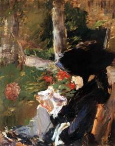 Mother in the garden at Bellevue, Edouard Manet