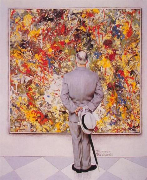 The Connoiseur by Norman Rockwell. Private Collection.